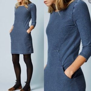 Boden Seam Detail Tunic Blue Denim Dress Size 6R